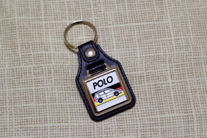 VW Polo 6n Keyring - Leatherette & Chrome Keytag