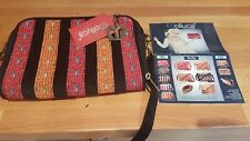 MOLLUCA CROSS BODY PURSE BAG DOCUMENT CARRIER NWT FABRIC 2 COMPARTMENTS