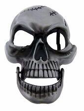 Skull Belt Buckle Gothic Antiqued Tattoo Tribal Halloween Costume Fashion Metal