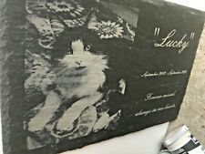 Pet memorial engraved onto slate for cats, dogs,horses, birds Large personalised