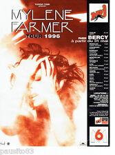 PUBLICITE ADVERTISING 066  1996  Mylène Farmer  Tuxedo Tour concert Paris Bercy