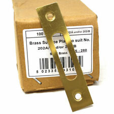 PERRY SOLID BRASS SURFACE PLATES FOR MORTICE DOOR LOCK STRIKER LATCH PLATE