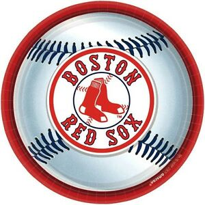BOSTON RED SOX 18 per pack 9 Inch Party Plates NEW !