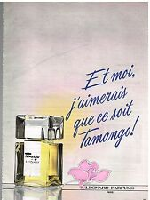Publicité Advertising 1982 Parfum Tamango de Léonard