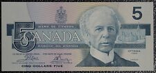 BANK OF CANADA - 1986 $5 Note - FIRST RUN - Signed Crow & Bouey - NCC