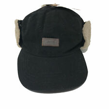 2d0cda78bbeff NEW Levi s Men s S   M Waxed Hunter Trapper Hat With Faux Sherpa Ear Flaps  Black