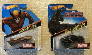 Hot Wheels Marvel - Wolverine + Black Panther Die Cast Car Lot