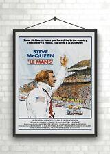 Steve McQueen Le Mans Vintage Large Movie Poster Art Print A0 A1 A2 A3 A4 Maxi