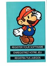 Super Paper Mario Registration Nintendo Club Wii INSERT ONLY Authentic
