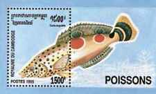 Timbre Poissons Cambodge BF118 ** lot 26924