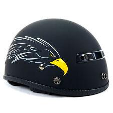 Vega XTS Eagle Half Helmet Cruiser Chopper Bobber Street Bike Motorcycle Harley
