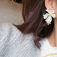 Fashion Vintage Metal Flower Stud Earrings Personality Women Party Jewelry Gift
