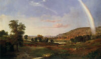 Oil painting Robert Scott Duncanson Landscape with Rainbow free shipping cost @@