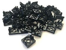 *NEW* 50 Pieces Lego BLACK MAGNET HOLDER TILE 2 x 2 x 1/3 *BULK*