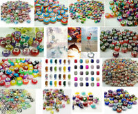 50pcs Mix DIY Jewelry Big Hole Beaded fit European Bracelet charm beads