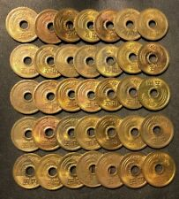 Old Japan Coin Lot - 5 Yen - 35 Lucky Coins - Lot #718