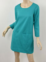 J. CREW Retro Jade Aqua JULES DRESS IN STRETCH WOOL Flannel Shift 0 XS