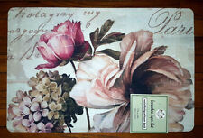 NWT PINK PEONY ROSE FLOWER KITCHEN MAT FOAM RUBBER ANTI FATIGUE FLORAL RUG 17x24