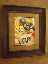 "FLORIDA/"" HOMECOMING VINTAGE LSU TIGERS COLLEGE FOOTBALL PROGRAM FRAMED /""LSU VS"