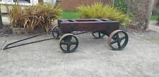 More details for original, early lister stationary engine trolley