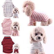 Pet Dog Cat Stripe Elastic Jacket Puppy Two Legs Sweater Coat Outwear Apparel