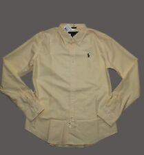 Ralph Lauren Women's  Slim Fit Oxford Striped Long Sleeve Shirt in Size 10