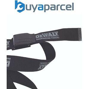 Dewalt Adjustable Belt Black Woven Any Size Belt with Black Buckle One Size