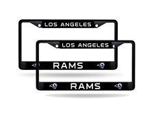 Los Angeles L.A. Rams NFL Black Metal (Set of 2) License Plate Frames