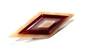 Bijou rhodoïd broche géométrique 1968 / 1980 Léa Stein Paris  brooch