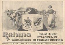 Y4120 RAHMA Margarine buttergleich - Pubblicità d'epoca - 1925 Old advertising