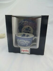SPODE BLUE ROOM COLLECTION FLORAL TEACUP & SAUCER  NEW IN BOX
