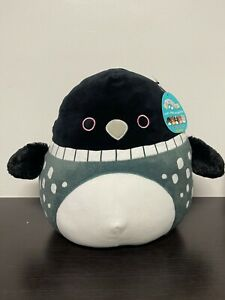 """Squishmallow RARE Lenora the Loon 12"""" Canadian Exclusive NWT HTF 2021"""