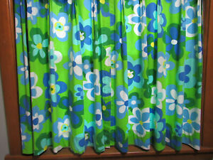 Vintage Funky Flower Power Curtains from 1970's