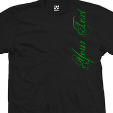 Custom Distressed Script VERT Shirt - Personalize Your Text - All Sizes & Colors