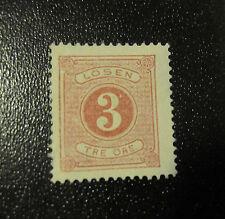Sweden postage due  stamp #J2 mint NG F/VF