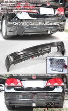 Mu-gen RR Rear Lip + LED Brake Light (Single Exhaust) Fits 06-11 CSX (JDM Civic)