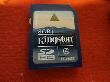 KINGSTON Carte mémoire Secure Digital 4 SD-HC CARD 8GB 8-GB  APN Nintendo DSi