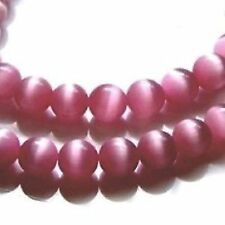 50 pieces 6mm Cat's Eye Beads - Pink - A3801