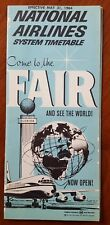 National Airlines Timetable * 1964 New York World's Fair cover