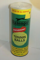 VINTAGE SLAZENGER TENNIS BALLS IN SEALED CAN! PULL TOP! MADE IN SOUTH AFRICA/NOS