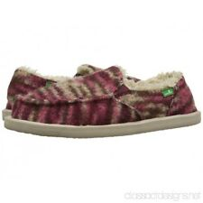 NEW Sanuk Women's Calichill Slip On Loafers Burgundy Size 5