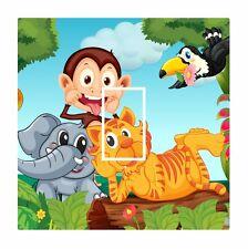 Novelty Cute Monkey & Jungle Animals Light Switch Vinyl Sticker Cover Skin Decal