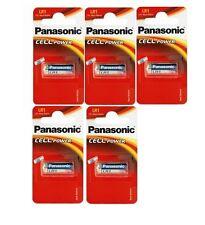 Panasonic lot de 5 piles LR1 MN9100 N   1.5V alcaline (en blister de 1 pile)