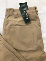 Vtg Lauren Ralph Lauren Khaki Pants Womens Size 14W Straight Cotton Casual NWT