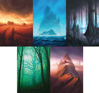 John Avon Unstable lithographic posters set SIGNED by John, MTG, Magic