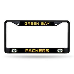Green Bay Packers Black Metal License Plate Frame