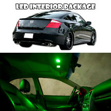 For 08-12 Honda Accord v6 2Dr Interior LED Xenon Light Bulb Full Package (Green)