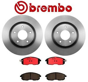 Brembo Front Brake Kit Disc Rotors and Ceramic Pads For Nissan Altima 2007-2013