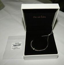 Genuine Sterling Silver PANDORA MOMENTS String Of Beads Slider Bracelet S925 ALE