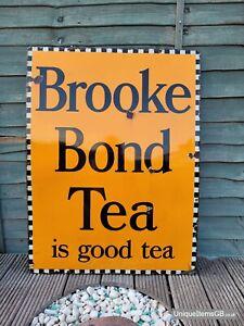 "Brooke Bond Tea Enamel Sign Advertising Sign LARGE 40"" x 30"""